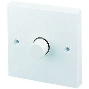 Push Dimmer 1 Gang 2 Way White 60-400VA
