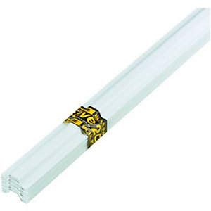 Wickes PVC Protective Channelling White 13x8mm 10 Pack
