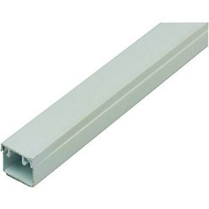Wickes Self Adhesive Mini Trunking White 16x16mmx2m