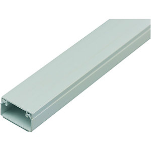 Wickes Self Adhesive Mini Trunking White 16x25mmx2m