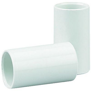 Wickes Straight Conduit Coupling White 20mm 4 Pack