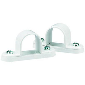 Wickes Conduit Spacer Bar Saddle White 20mm 5 Pack