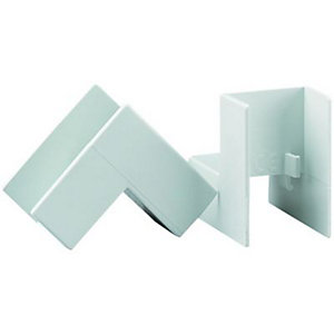 Wickes Mini Trunking Inside Angle White 25x16mm 2 Pack