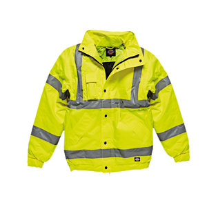 4Trade Bomber Jacket High Visibility EN471 CL3 Size L