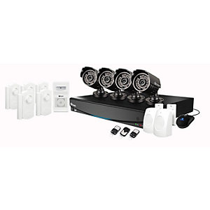 Swann SWVAK834254AUK 8 Channel Digital Video Recorder with 4 Cameras & Alarm Kit