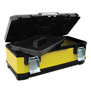 Stanley 1-95-614 Yellow Metal & Plastic Toolbox 26in
