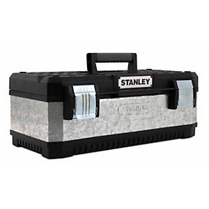 Stanley 26in Galvanised Metal & Plastic Toolbox