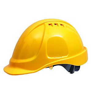 Wickes PVC Safety Helmet Bss 501Y Mk2 Yellow