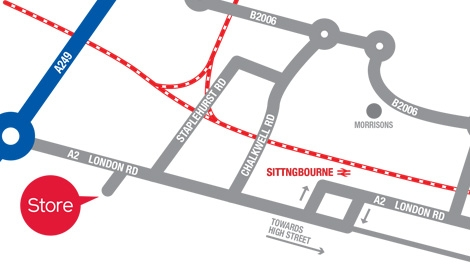 Sittingbourne map