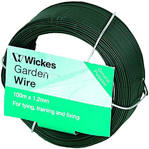 Wickes Garden Wire 1.2mmx100m PVC Coated