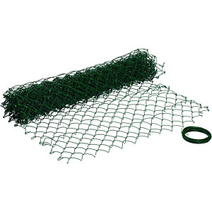 Wickes Chain Link Fencing 1.2mx10m PVC Coated