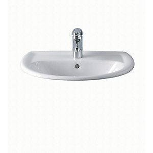Twyford Gn4521Wh New Galerie Vanity Basin 1Tap Hole White 500mm