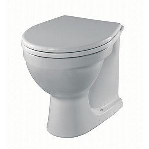 Twyford AR1438WH Alcona Back to Wall Pan White