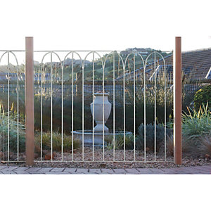 Wickes Arch Top Large Metal Deck Panel 91 x 1130mm Silver