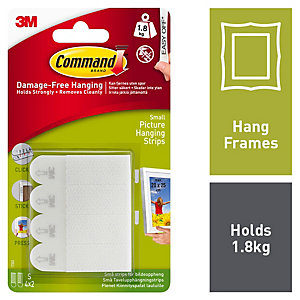 Command™ Small Picture Hanging Strips White