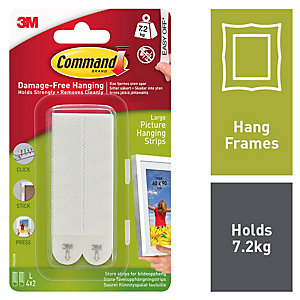 Command™ Large Picture Hanging Strips White 2 Pack