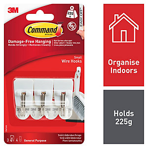 Command™ Small Wire Hooks White 3 Pack