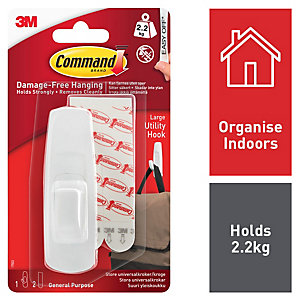 Command™ Large Hook White
