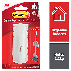 Command™ Large Wire Hook White