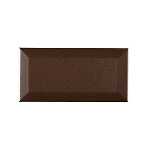 Wickes Bevelled Small Metalizado Ceramic Wall Tile 75x150mm