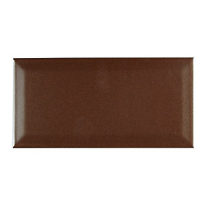 Wickes Bevelled Metalizado Ceramic Wall Tile 100x200mm