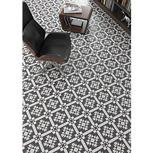 Wickes Harrow Grey Ceramic Floor Tile 316 x 316mm