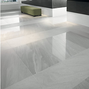 Wickes Arkeisa Gris Polished Porcelain Floor Tile 600x600mm