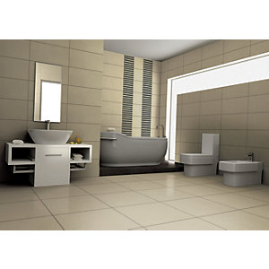 Wickes Basaltina White Porcelain Floor Tile 600x600mm