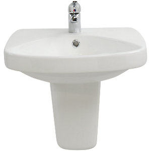 Wickes Eco Basin with Semi Pedestal 512mm