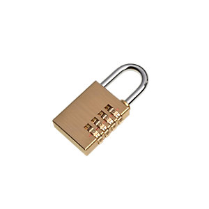 Wickes Combination Padlock Steel 40mm