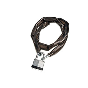 Wickes Laminated Padlock & Chain PVC Coated 40mm