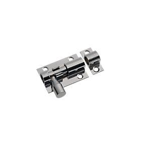 Wickes Barrel Bolt Chrome Finish 38mm
