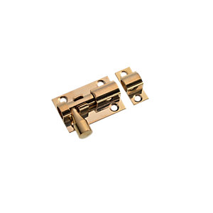Wickes Barrel Bolt Polished Brass Finish 38mm