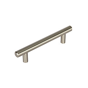 Wickes T Bar Handles Brushed Nickel Finish 188mm 2 Pack