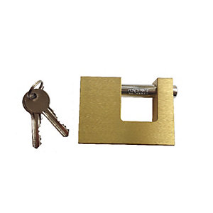 Wickes Padlock Solid Brass 85mm