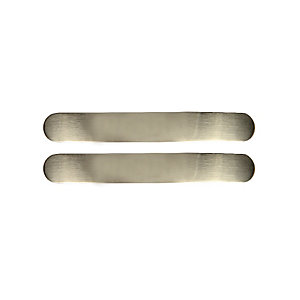 Wickes Curved Pull Handles Brushed Nickel Finish 112mm 2 Pack