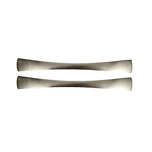 Wickes Slimline Bow Handles Brushed Nickel Finish 185mm 2 Pack