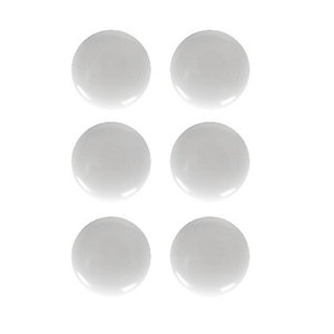 Wickes Ceramic Knobs White 37mm 6 Pack