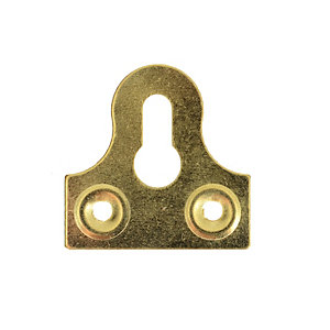 Wickes Slotted Glass Plate Slotted Brass 38mm 10 Pack