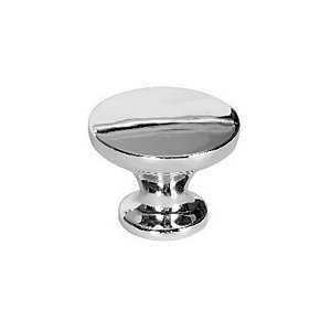Wickes Victorian Knobs Polished Chrome Finish 38mm 6 Pack