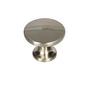 Wickes Victorian Knobs Brushed Nickel Finish 30mm 6 Pack