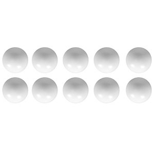 Wickes Plastic Ball Top Knobs White 37mm 10 Pack