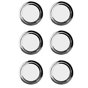Wickes Ring Knobs Polished Chrome Finish 35mm 6 Pack