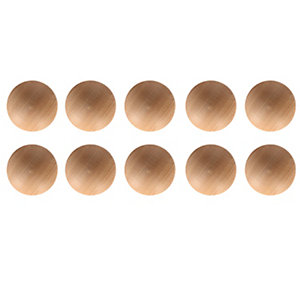 Wickes Unvarnished Pine Ring Knobs 40mm 10 Pack