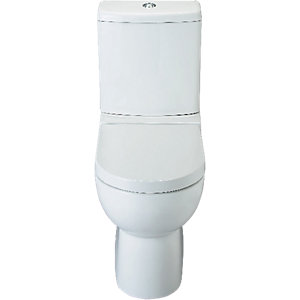 Wickes Avalon Flat To Wall Toilet Pan  Cistern with Toilet Seat