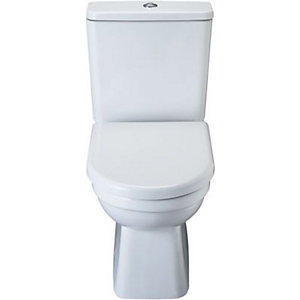 wickes capri pan cistern with soft close toilet seat. Black Bedroom Furniture Sets. Home Design Ideas