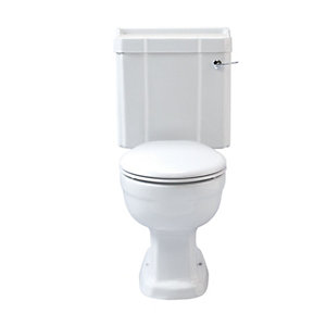 Wickes Hamilton Toilet Pan  Cistern & Lever with Soft Close Toilet Seat (without upstand)