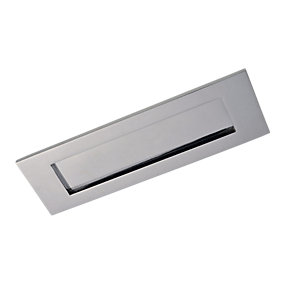 Wickes Letter Plate Chrome Finish 308x96mm