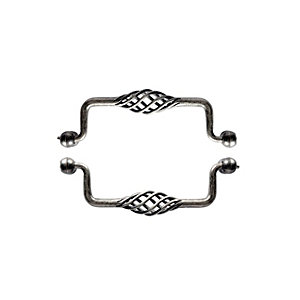 Wickes Cage Drop Handles Antique Pewter Effect 148mm 2 Pack