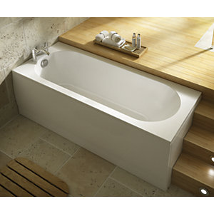 Wickes Terenzo Bath End Panel White 700mm